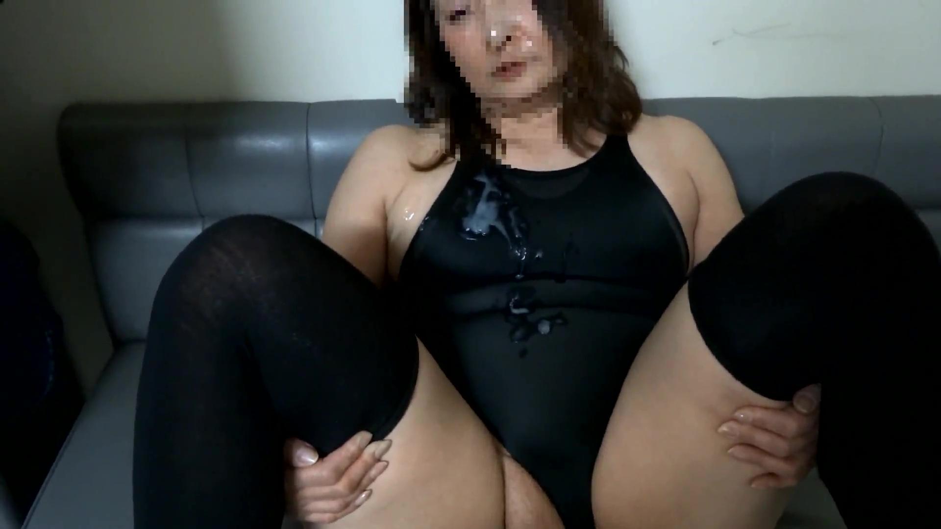顔射ぶっかけ競泳水着で変態セックス