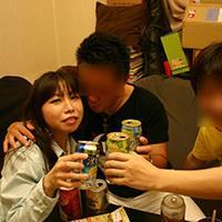 【素人投稿】バイト仲間の飲み会で酔っ払…